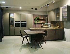 Cucina design con penisola Doimo cucine Soho  a prezzo ribassato