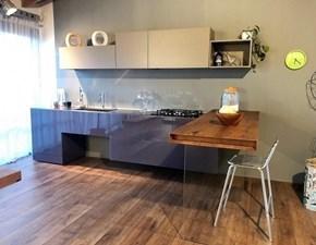 Cucina design con penisola Lago 36e8 lago a prezzo scontato
