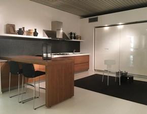 Cucina design con penisola Mk cucine Extra 04 a prezzo ribassato
