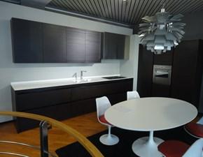 Cucina design Filotabula di Euromobil  in legno Pino Moka lineare Filotabula scontata