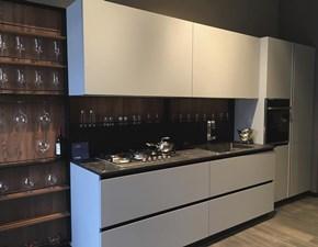 Cucina design grigio Aran cucine lineare Lab 13 acuta hpl scontata