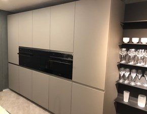 Cucina design grigio Dibiesse ad isola Area 22 xl job in Offerta Outlet