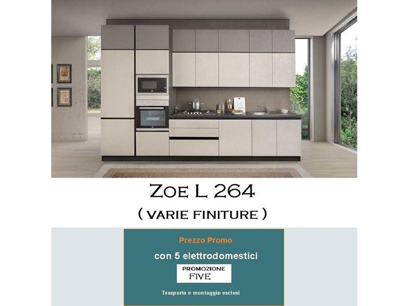 Cucina design grigio Mobilturi cucine lineare Zoe in offerta