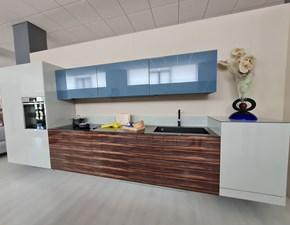 Cucina design lineare Lago Xglass kitchen a prezzo scontato
