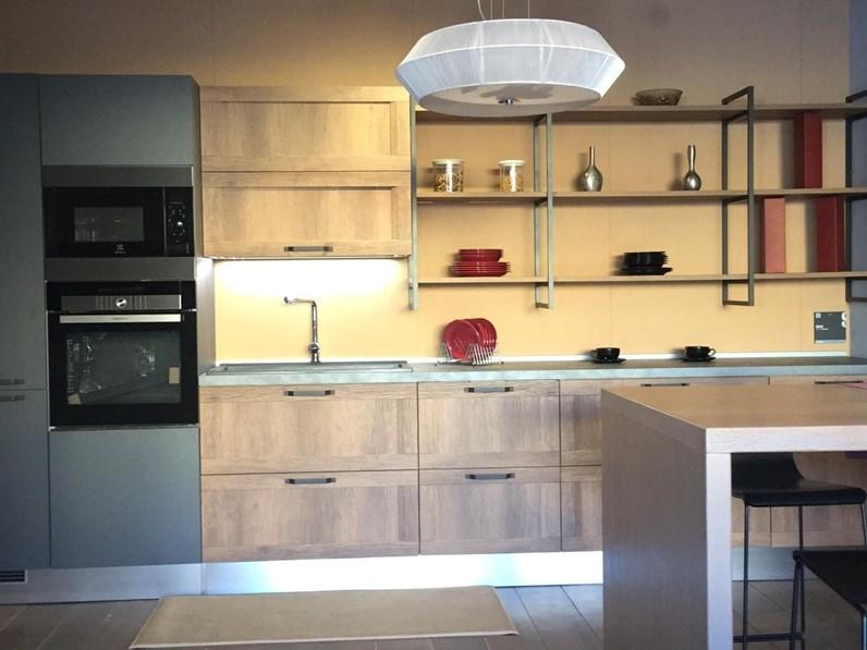 Cucina design lineare Scavolini Sax rovere land scav 921 a prezzo ...