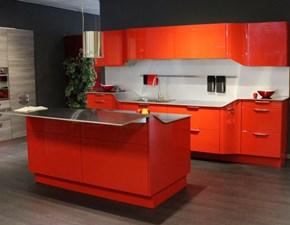 Cucina design rossa Snaidero ad isola Venus in Offerta Outlet