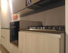 Cucina design rovere chiaro Doimo cucine lineare Materia scontata