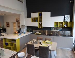 Cucina design tortora Lube cucine con penisola Essenza scontata