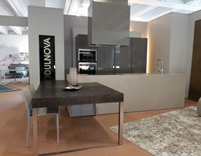 Cucina design tortora Modulnova ad isola Mod. twenty scontata