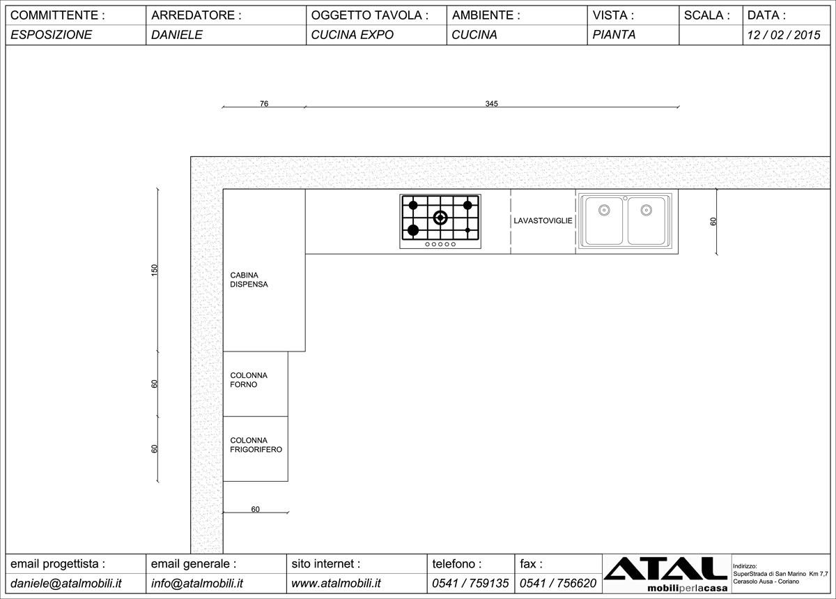 Cucine Con Dispensa Angolare : Con Dispensa : Cucina Dibiesse Asolo  #141414 1200 859 Cucine Piccolissime Ikea