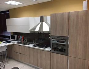 cucina in laminato materico lineare