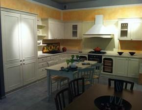 Cucina Doimo Cucine legno magnolia e top in marmo biancone SCONTATA