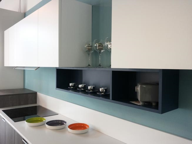 Cucina doimo cucine style moderna laminato materico bianca - Prezzi doimo cucine ...