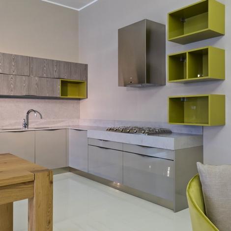 Cucina duna polimerico lucido tortora piano okite - Piano cucina okite ...