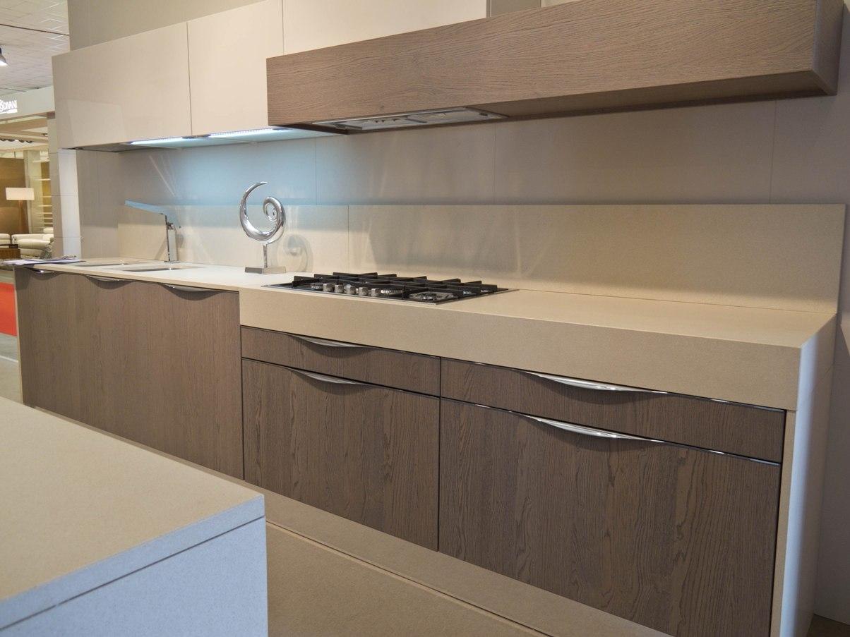 Cucina duna rovere cenere e laccato ecr cucine a prezzi - Cucine in rovere ...
