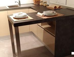 Cucina Easy  moderna tortora con penisola Doimo cucine
