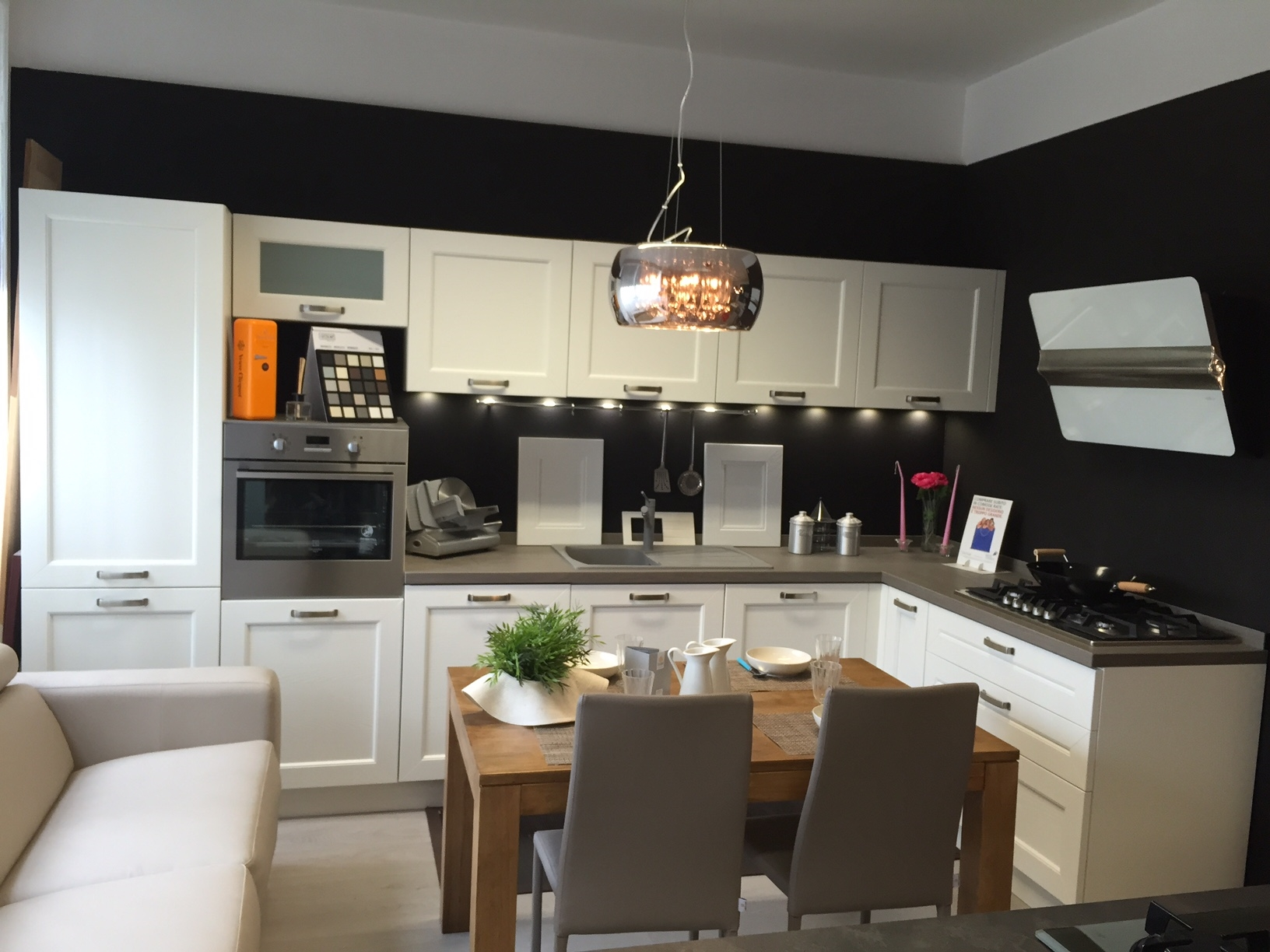 Cucina Effe4 Creta Moderna Legno bianca - Cucine a prezzi scontati