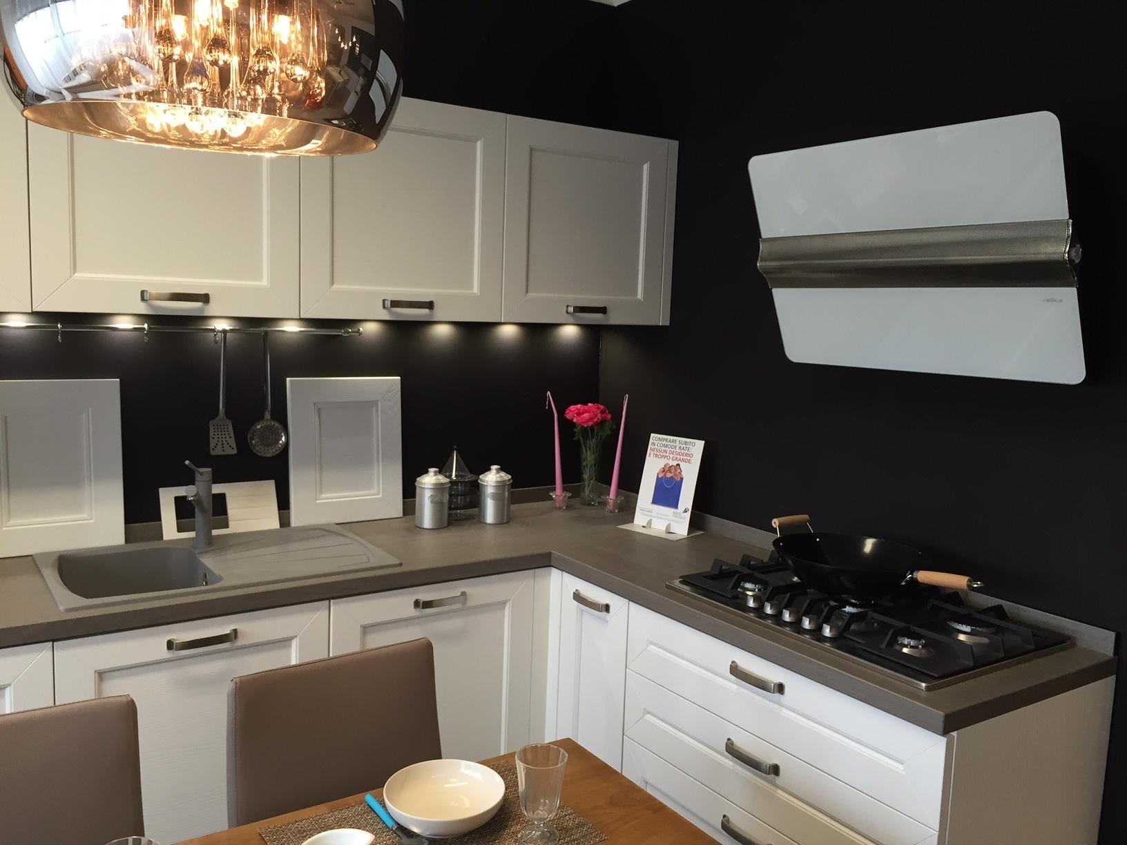 cucina effe4 creta moderna legno bianca - cucine a prezzi scontati - Gres Porcellanato Cucina Moderna