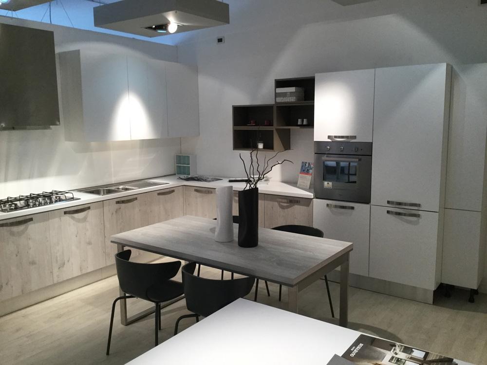 Cucina effequattro angolo moderno laminato materico neutra ...