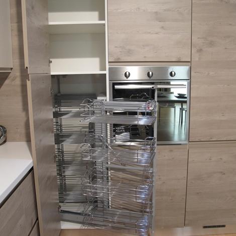 Cucina moderna lineare dispensa ad angolo con - Dispensa ad angolo per cucina ...