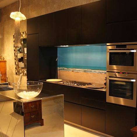 Cucina elmar cucine el01 nero laccato opaco cucine a - Cucine elmar prezzi ...