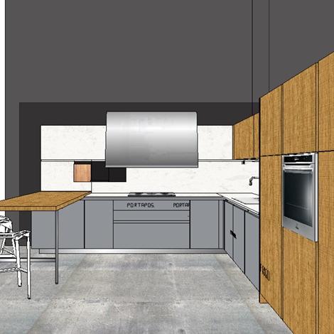Elmar cucine cucina slim design legno rovere chiaro cucine a prezzi scontati - Cucine in legno chiaro ...