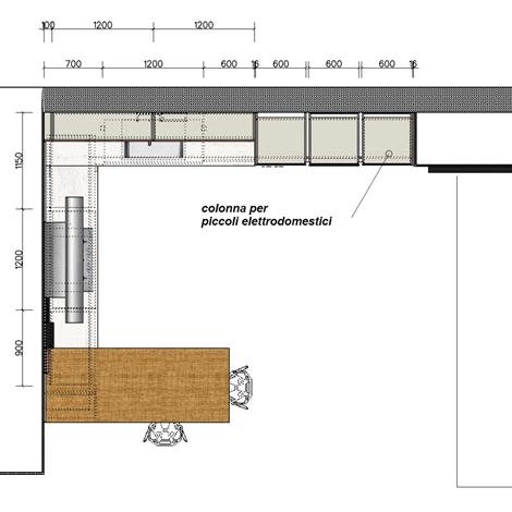 Elmar cucine cucina slim design legno rovere chiaro for Layout della planimetria della cucina