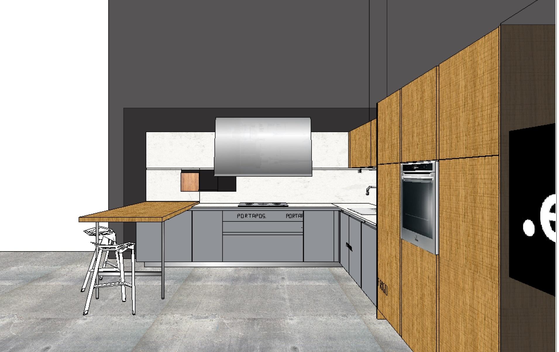 Elmar cucine cucina slim design legno rovere chiaro - Cucine in legno chiaro ...