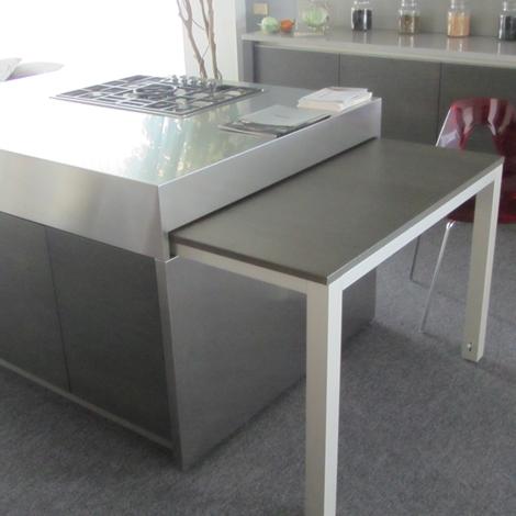 Cucina elmar modello modus con tavolo estraibile cucine - Tavolo a penisola ...