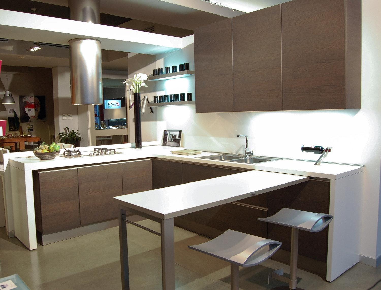 Cucina Con Penisola Centrale Interno Di Casa Smepool Com