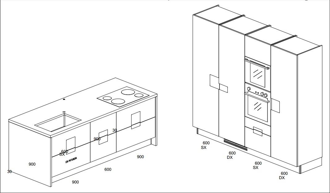 Disegno Isola Cucina: Disegno della cucina di casa come disegnare una componibile.