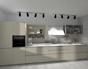 Cucina Ernestomeda design lineare grigio in vetro Icon air