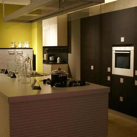 outlet Cucina Ernestomeda Silverbox Design Legno rovere moro
