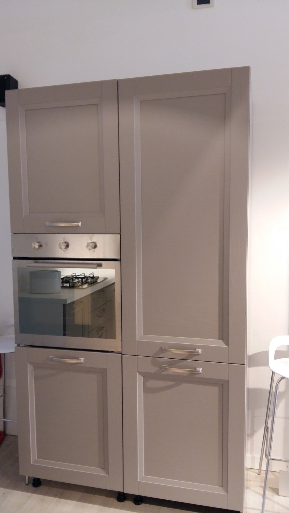 Cucina essebi cucine alba color platino e bianca moderno - Cucina bianca legno ...