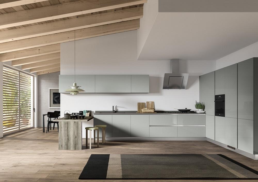 Essebi cucine cucina corolla in polimerico grigio lucido - Cucine essebi prezzi ...