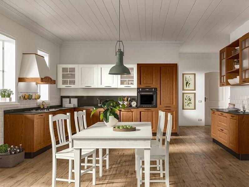 CUCINA Essebi cucine Cucina in legno mod.creta con piano ...