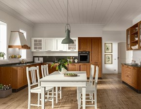 CUCINA Essebi cucine Cucina in legno mod.creta con piano in quarzo scontata del 40% PREZZO OUTLET