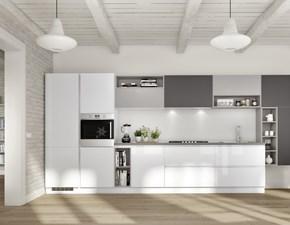 Immagini Cucine Moderne Bianche.Outlet Cucine Laccato Lucido Sconti Fino Al 70