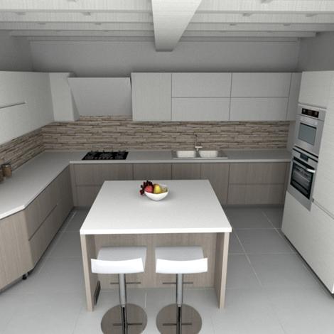 Cucina moderna angolo essebi scontata del 50 cucine a - Cucine essebi prezzi ...