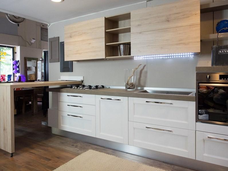 Cucina essenza vintage white in offerta nuovimondi outlet arredamento - Cucina composizione bloccata ...
