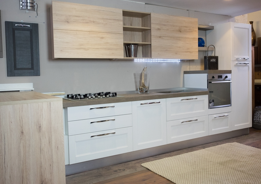 Cucina essenza vintage white in offerta nuovimondi outlet - Outlet arredamento cucine ...