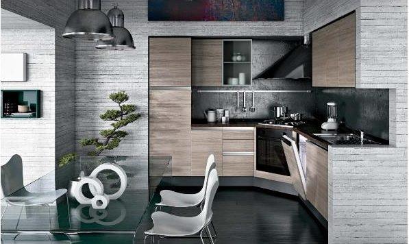 Cucina etno angolo living 19512 cucine a prezzi scontati - Cucine moderne bicolore ...