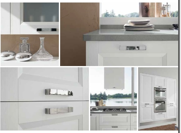 Cucina etno moderna lineare white scontatissima cucine a for Cucina moderna 330