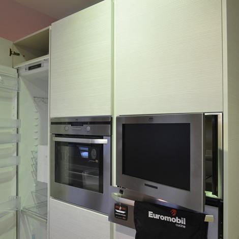 Cucina euromobil filo tabula con tv in colonna cucine a - Euromobil cucine prezzi ...