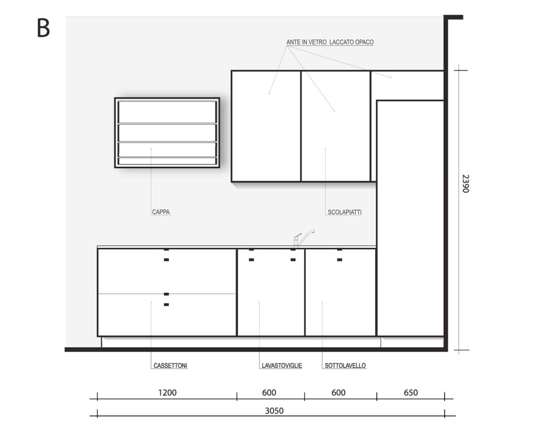 Disegno altezza mobili cucina ispirazioni design dell - Larghezza mobili cucina ...