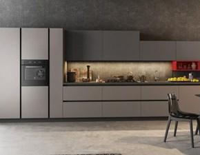 Cucina Eva moderna grigio lineare Aran