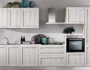 Cucina Evo cucine industriale lineare rovere chiaro in polimerico opaco Melissa