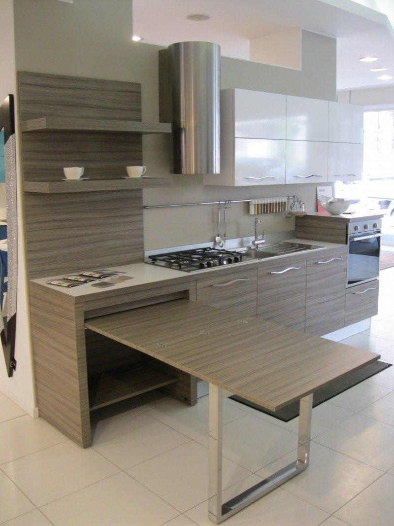 Isola con tavolo integrato affordable isola cucina con tavolo great cucina con angolo snack - Cucine con tavolo estraibile ...
