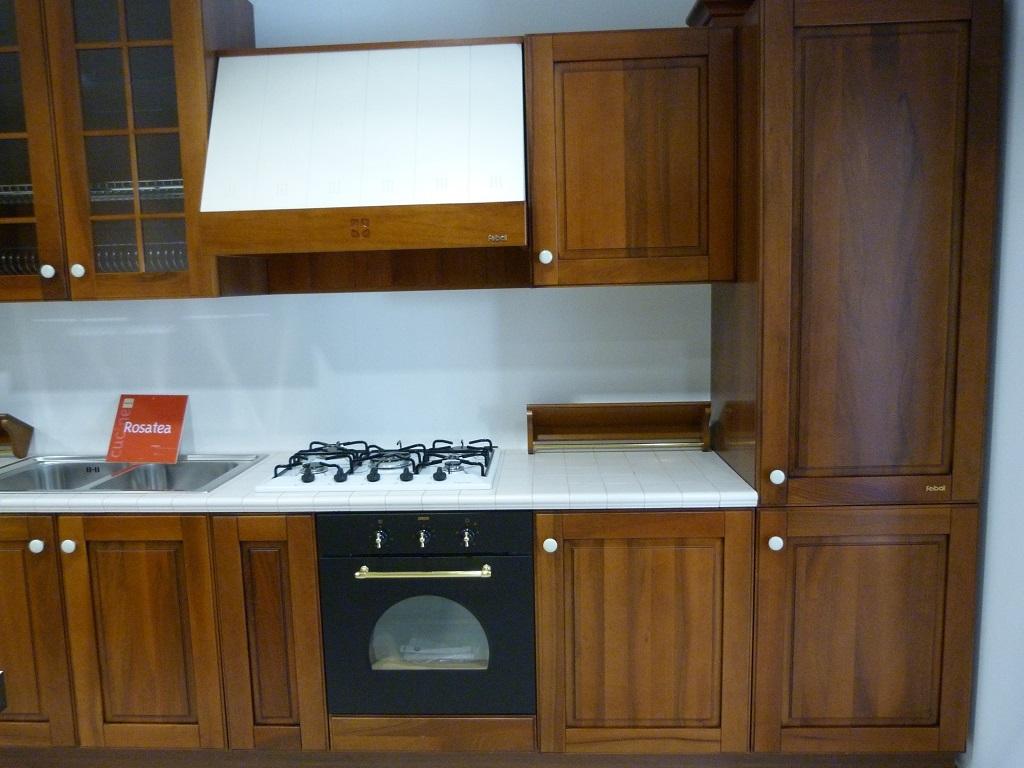 Cucina Febal Rosatea Classica Legno noce - Cucine a prezzi scontati