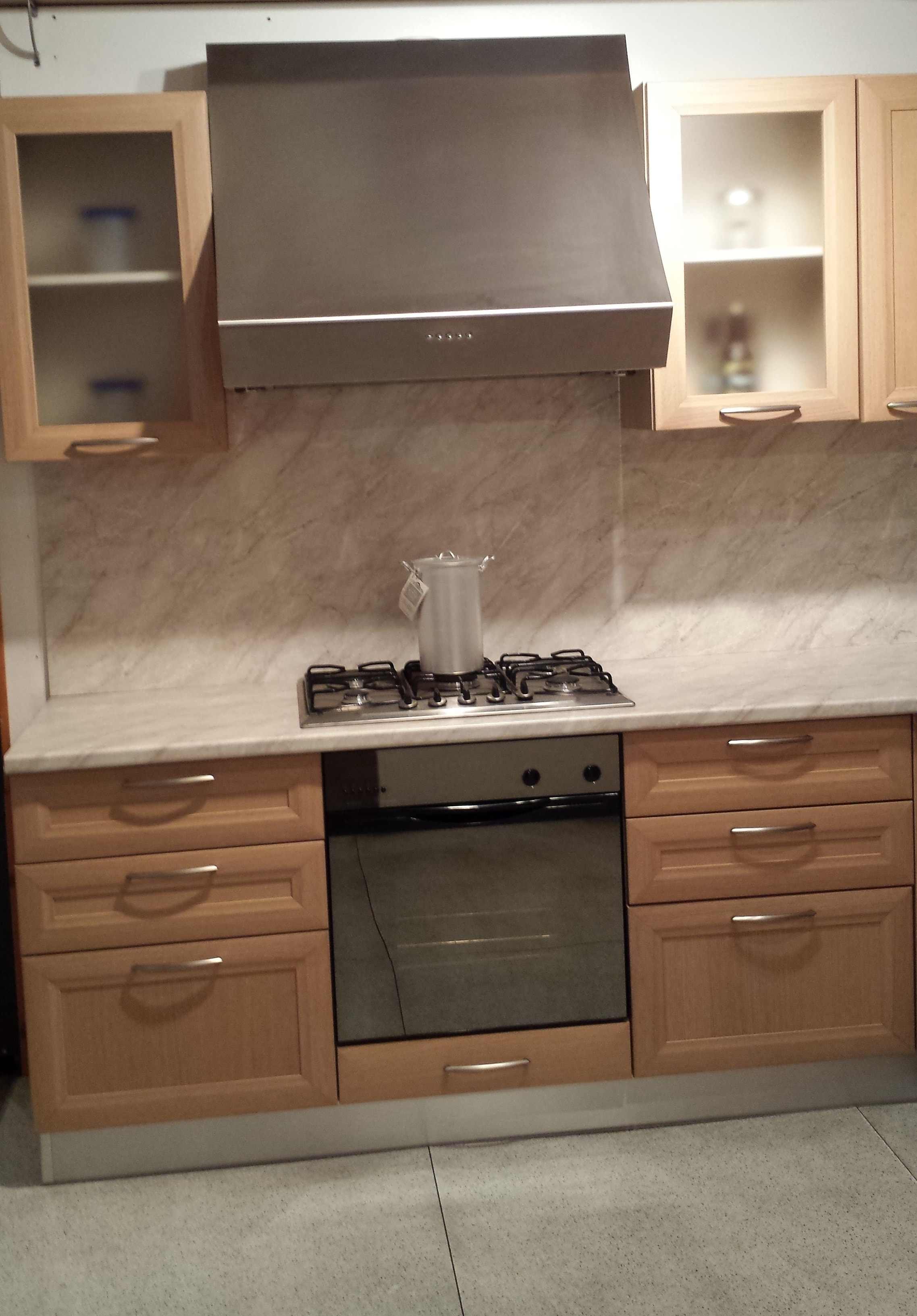 Cucina flavia in rovere sbiancato di lube scontata cucine a prezzi scontati - Rovere sbiancato cucina ...